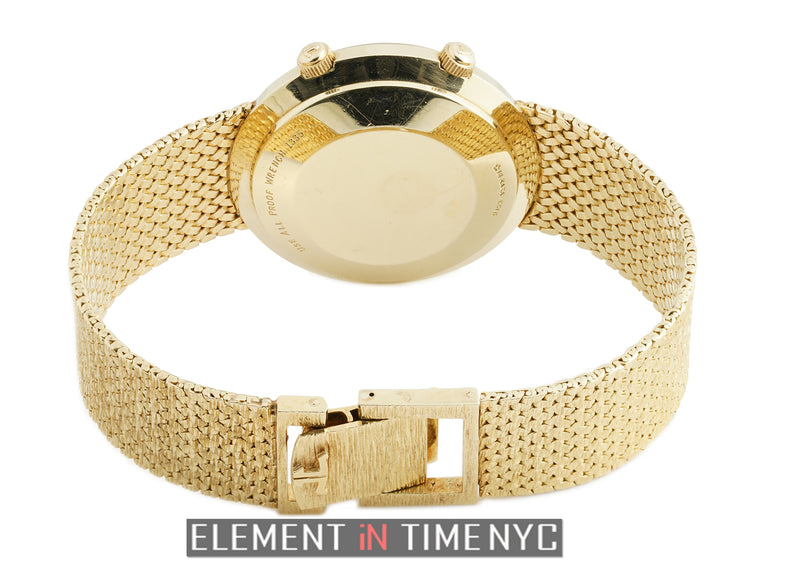 14k Yellow Gold Silver Dial Automatic 38mm
