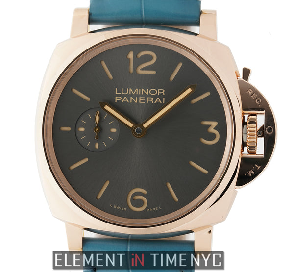 Luminor Due 3 Days 18k Rose Gold 42mm Anthracite Dial