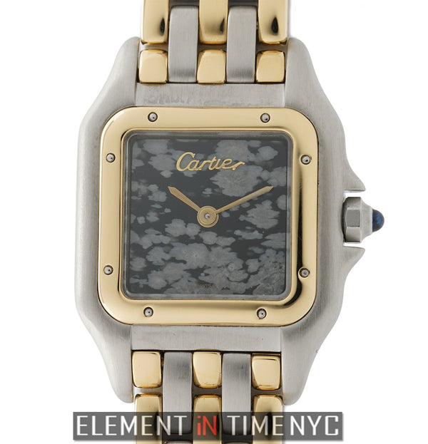 18k Yellow Gold And Stainless Steel Three Row Marble Dial 22mm