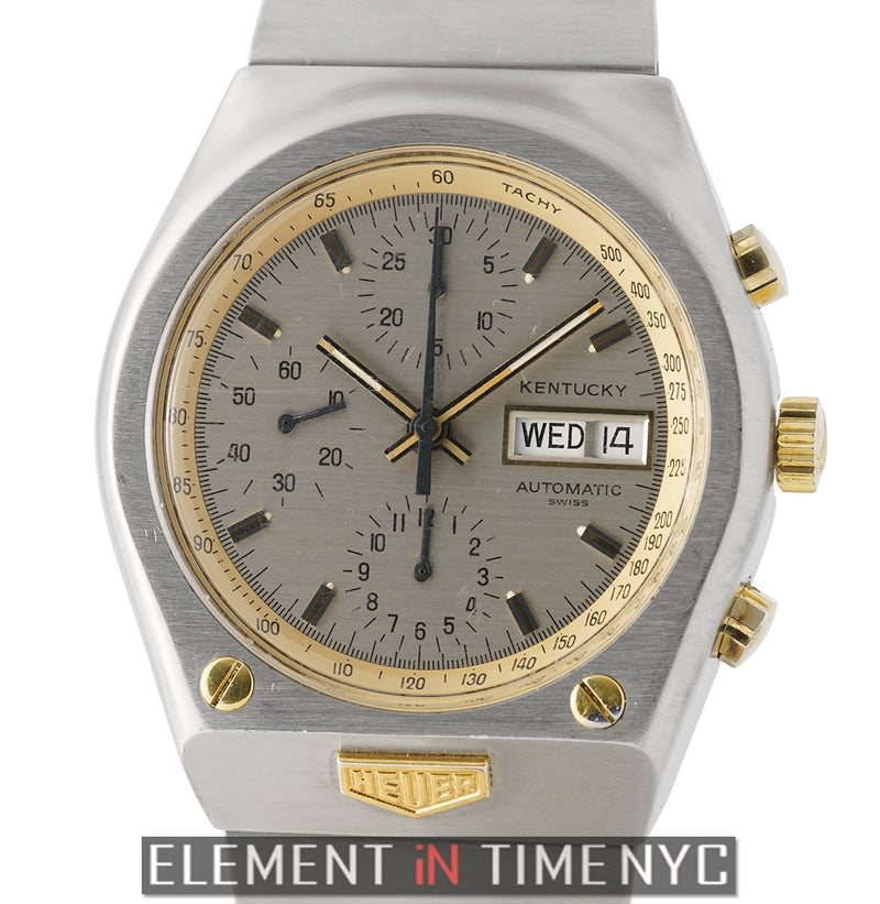 Kentucky Day-Date Chronograph Steel & Yellow Gold 39mm 1970's