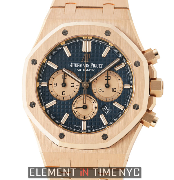 Chronograph 18k Rose Gold 41mm Blue Dial