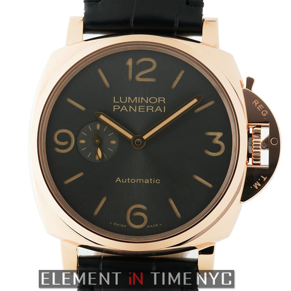 Luminor Due 3 Days 18k Rose Gold 45mm Anthracite Dial