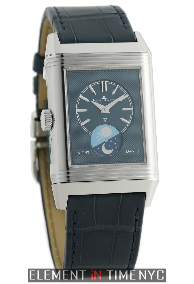 Reverso Tribute Moon Steel 30mm Silver Dial