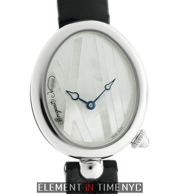 Mini Ladies Stainless Steel 27mm Mother Of Pearl Dial