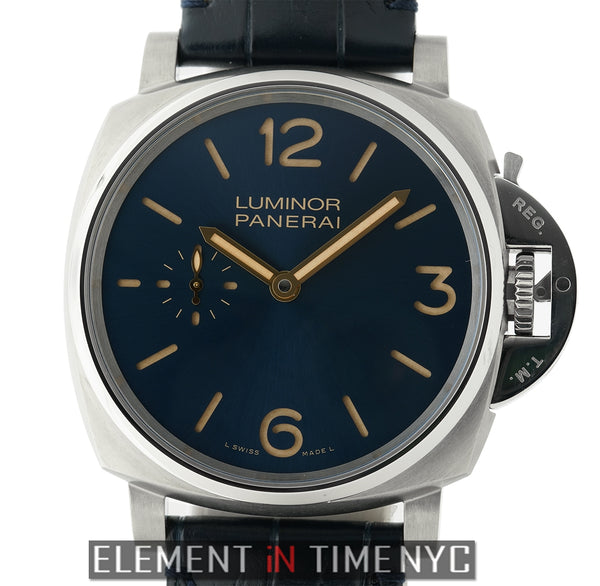 Luminor Due 3 Days Titanium 42mm Blue Dial