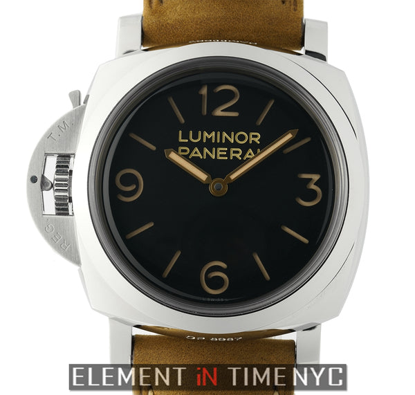 Luminor 1950 Left-Handed 3 Days Steel 47mm Black Dial