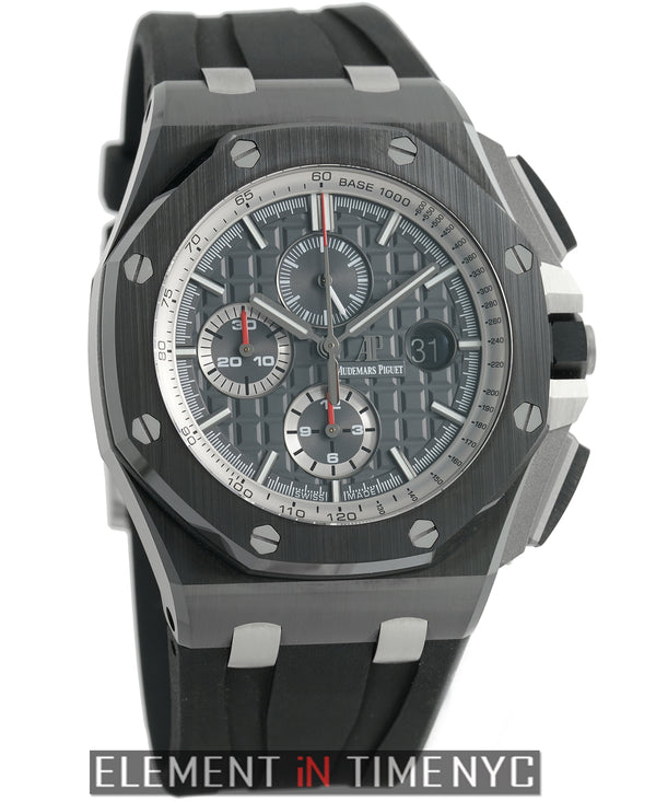 Ceramic Chronograph 44mm Black Dial