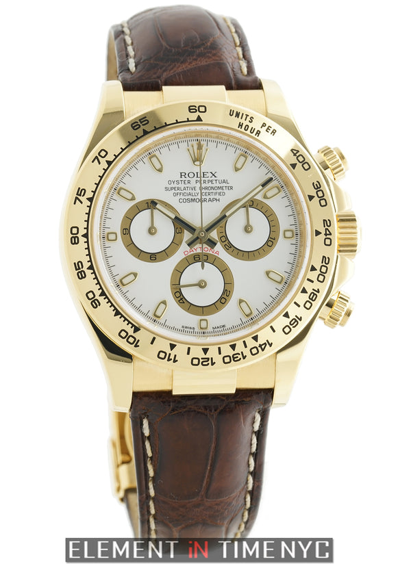 18k Yellow Gold On A Strap White Dial G Serial 2012