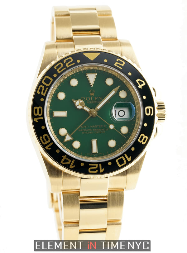18k Yellow Gold Green Dial 40mm