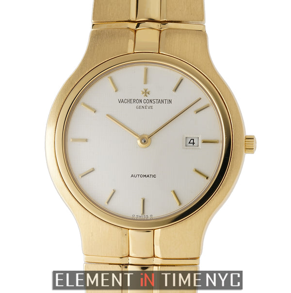 Date 18k Yellow Gold On Bracelet White DIal 33mm Circa 1996