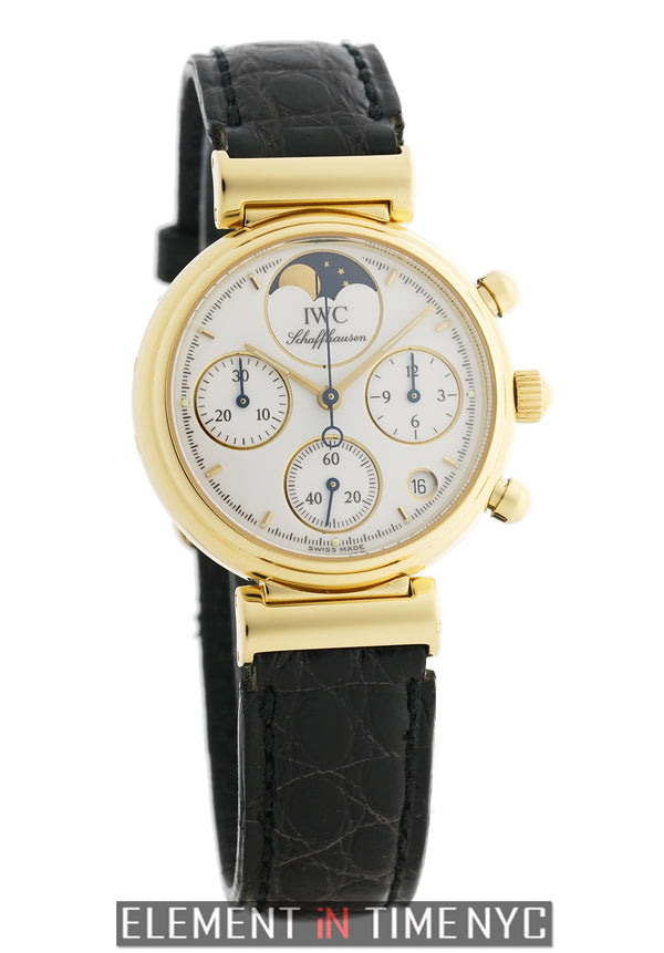 Chronograph Moonphase 18k Yellow Gold 29mm White Dial