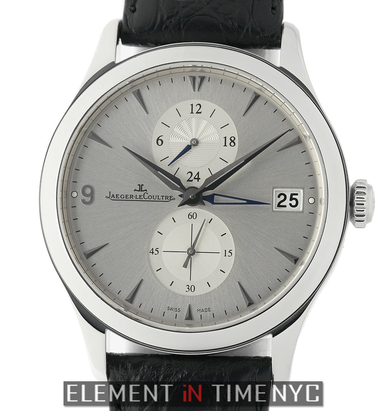 Hometime Dualtime Steel 40mm Silver Dial