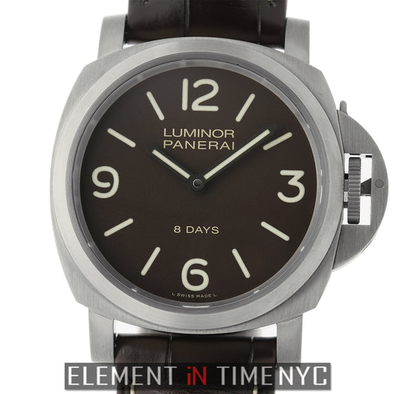 Luminor Base 8 Days Titanium 44mm Brown Dial Manual Wind