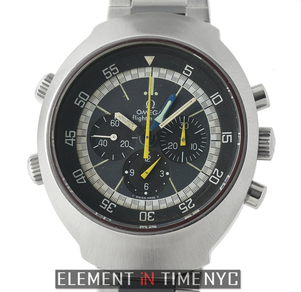 Vintage Chronograph Stainless Steel Black Dial 43mm