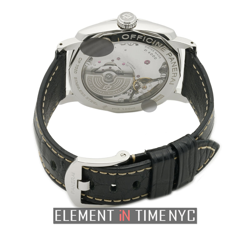 Radiomir 1940 3 Day Steel 42mm Black Dial Exhibition Back R Series