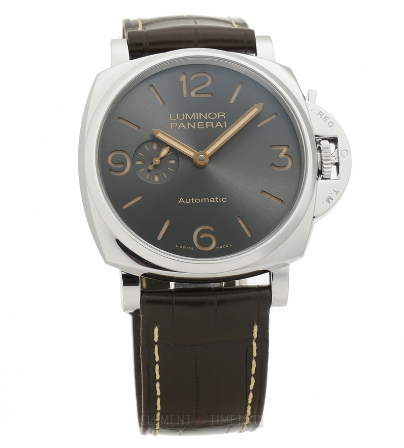 Luminor Due 3 Days Automatic Steel 45mm Anthracite Dial