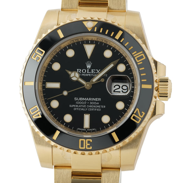 18k Yellow Gold Black Dial Ceramic Bezel 40mm