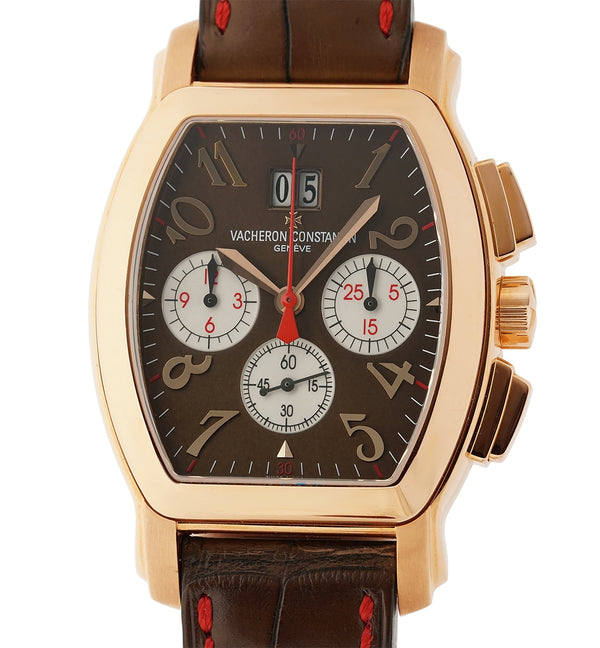 "Tonneau Chronograph ""Malte"" U.S. Edition 18k Rose Gold With Brown Dial 36mm"