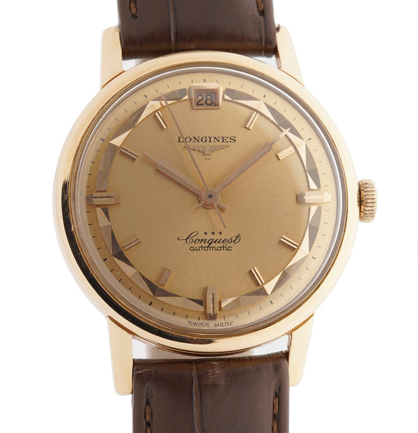 18k Rose Gold Automatic Date Rose Gold Dial Cal 291 35mm 1960's