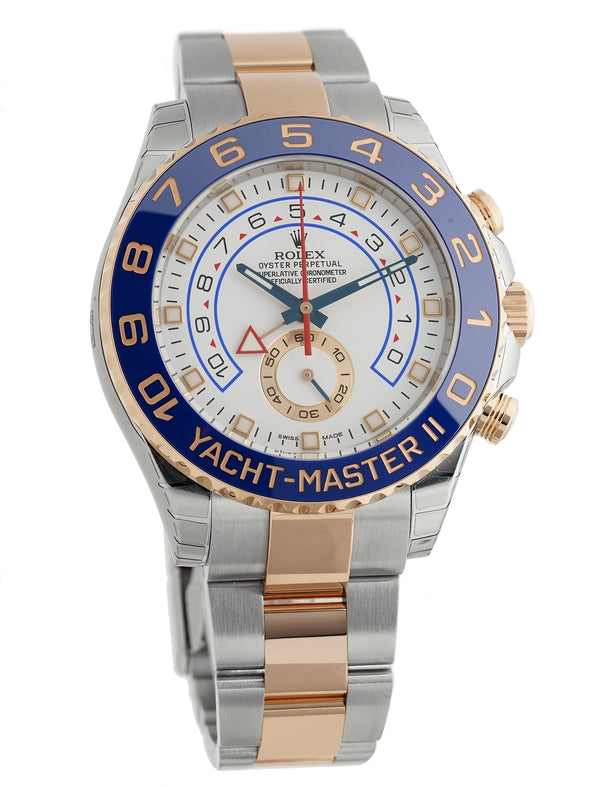Steel & 18k Rose Gold 44mm Blue Ceramic Bezel