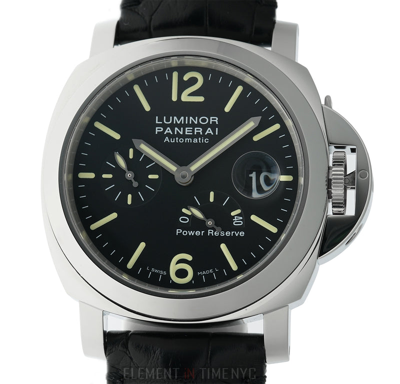 Luminor Power Reserve 44mm Steel Black Dial Automatic