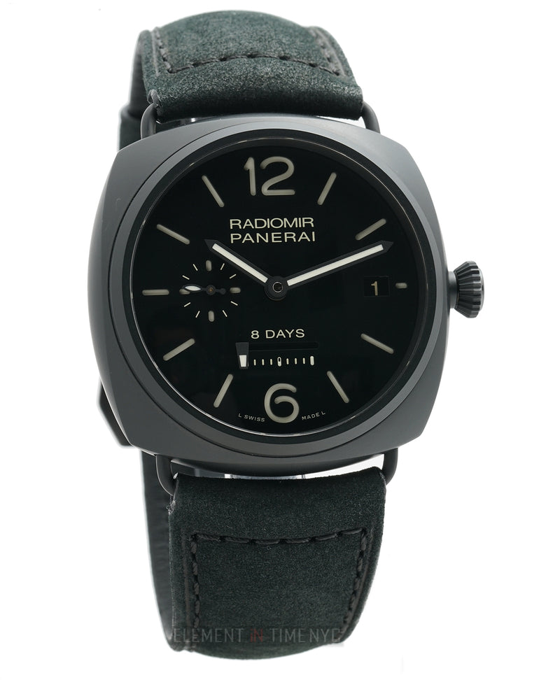 Radiomir 8 Days Ceramic 45mm Black Dial