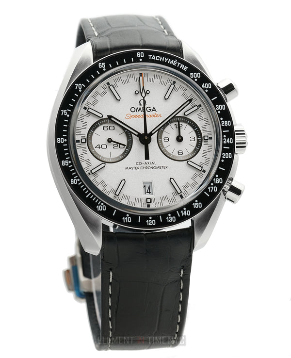 Racing Master Chronometer Chronograph Steel 44mm White Dial