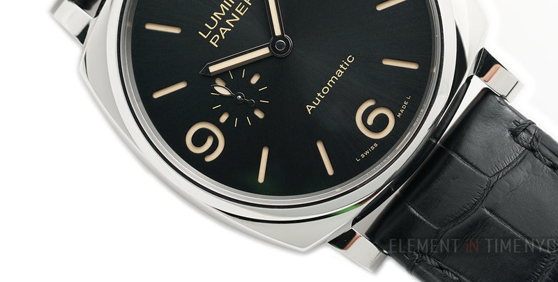 Luminor Due 3 Days Steel 45mm Black Sandwich Dial