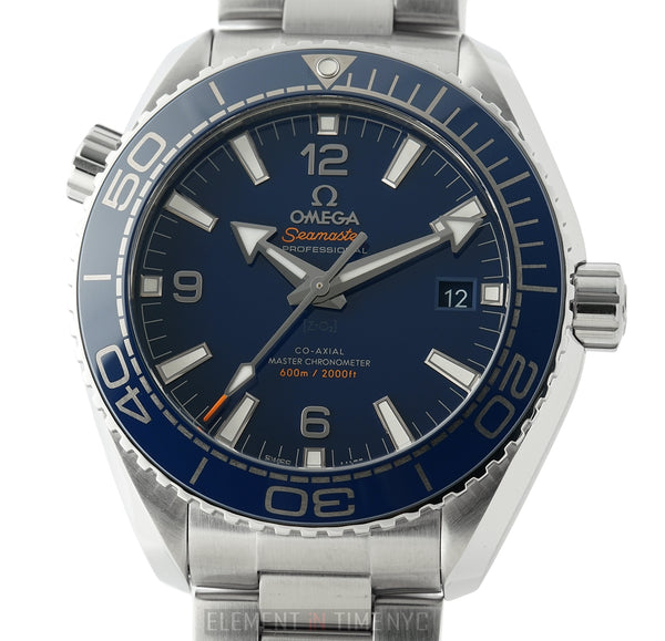 Planet Ocean 600m Co-Axial Master Chronometer Blue Ceramic Dial