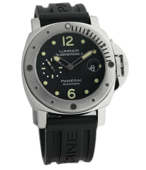 Submersible Stainless Steel Black Dial 44mm