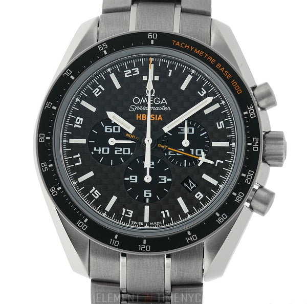 HB-SIA GMT Chronograph Solar Impulse Titanium Black Carbon Fiber Dial