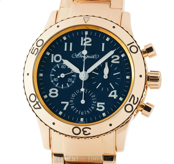 Flyback Chronograph Aeronavale 18k Rose Gold 39mm Blue Dial