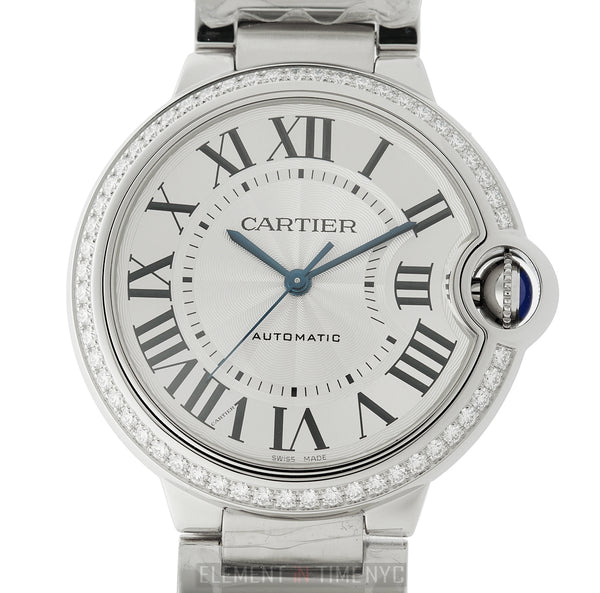 36mm Stainless Steel Diamond Bezel Automatic