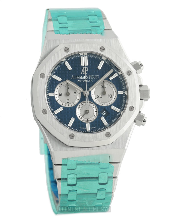 Chronograph Stainless Steel 41mm Blue Dial