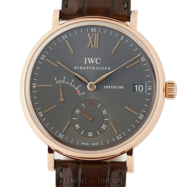 Hand Wound Eight Days 45mm 18k Rose Gold Ardoise Dial