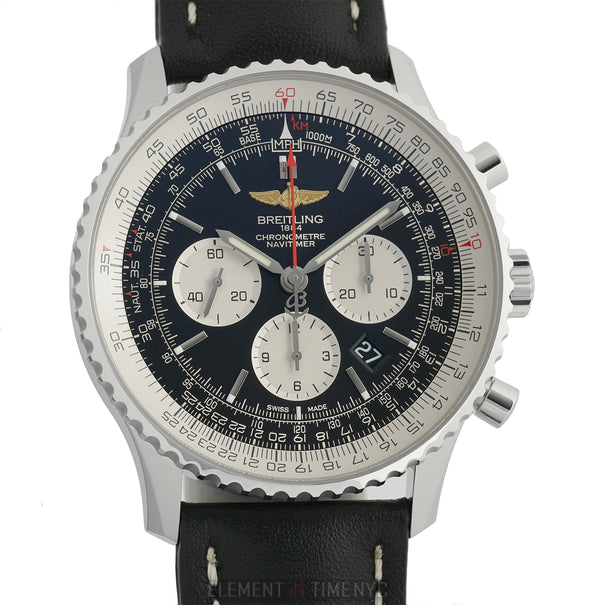 Navitimer 01 Chronograph Stainless Steel 46mm Black Dial
