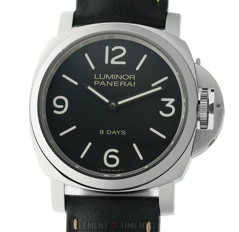 Luminor Base 8 Days Steel 44mm Black Dial R Series Circa 2015