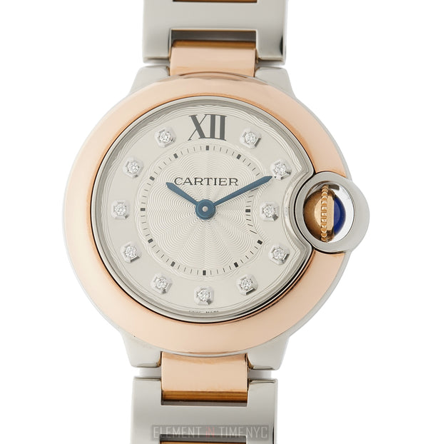Ladies 28mm Steel & 18k Rose Gold Diamond Dial Quartz