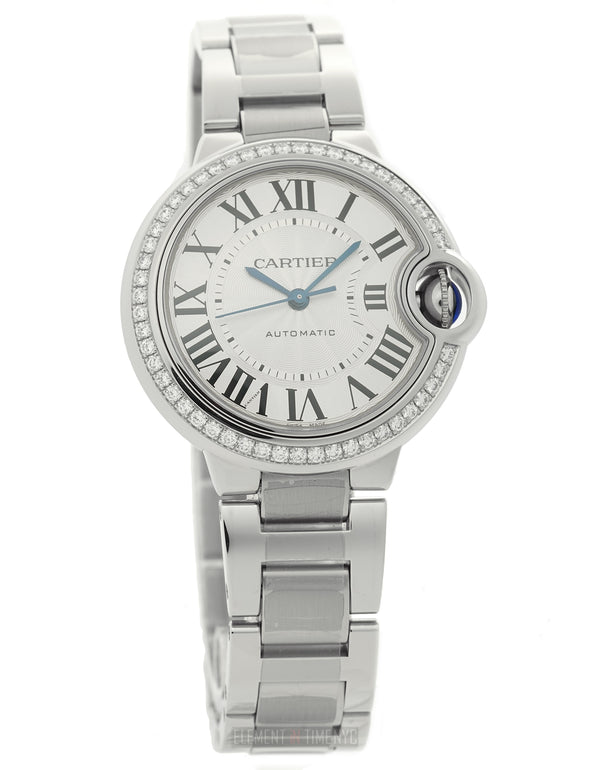 33mm Ladies Stainless Steel Diamond Bezel Automatic