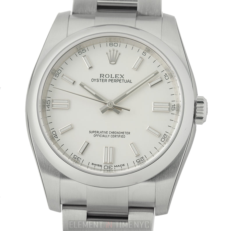 Stainless Steel No-Date White Dial 36mm