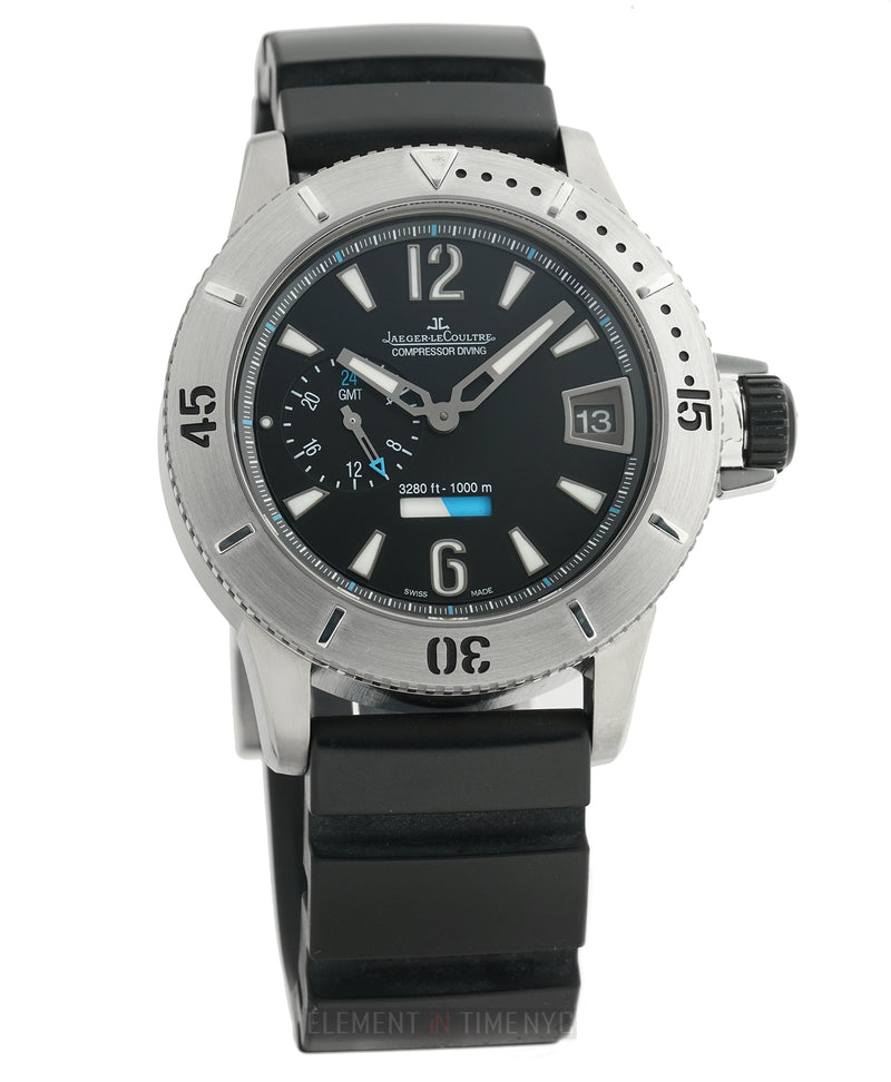 Diving GMT 44mm Titanium Black Dial Limited Edition On Rubber