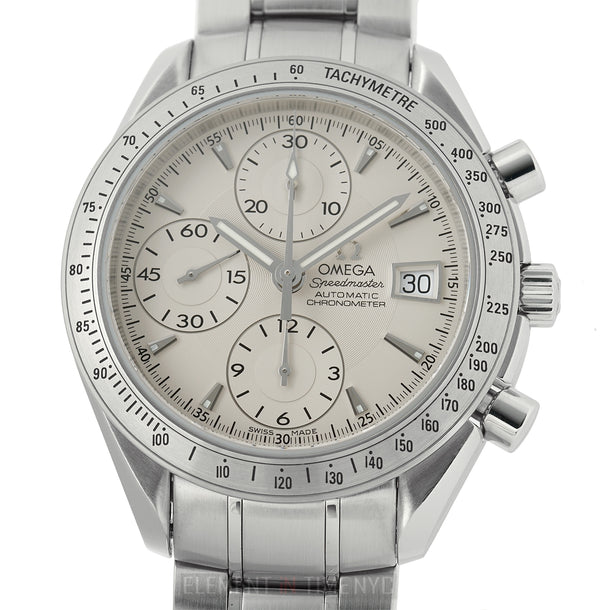 Date Chronograph Stainless Steel 40mm Silver Dial Automatic