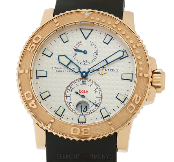 Diver Chronometer 18k Rose Gold 43mm Silver Dial