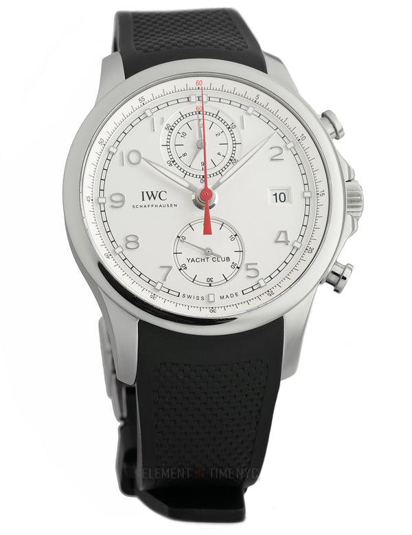 Yacht Club Chronograph Steel 44mm Silver Dial
