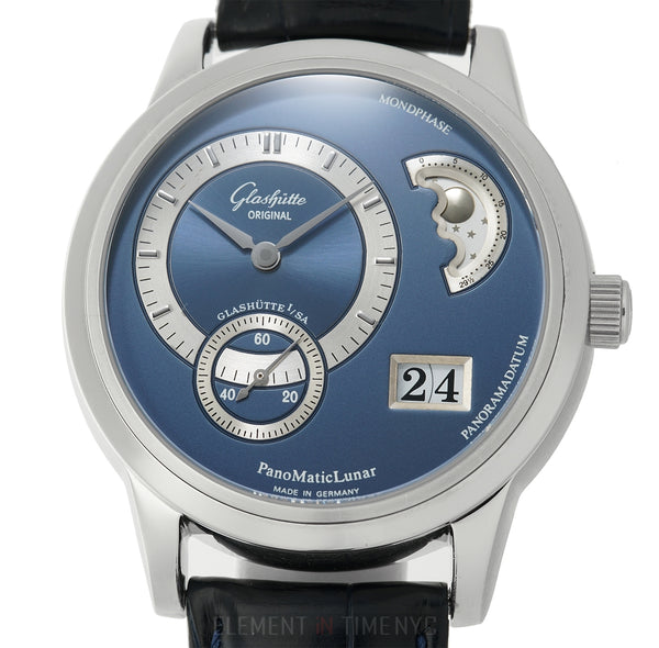 PanoMaticLunar Steel 39mm Blue Dial Automatic