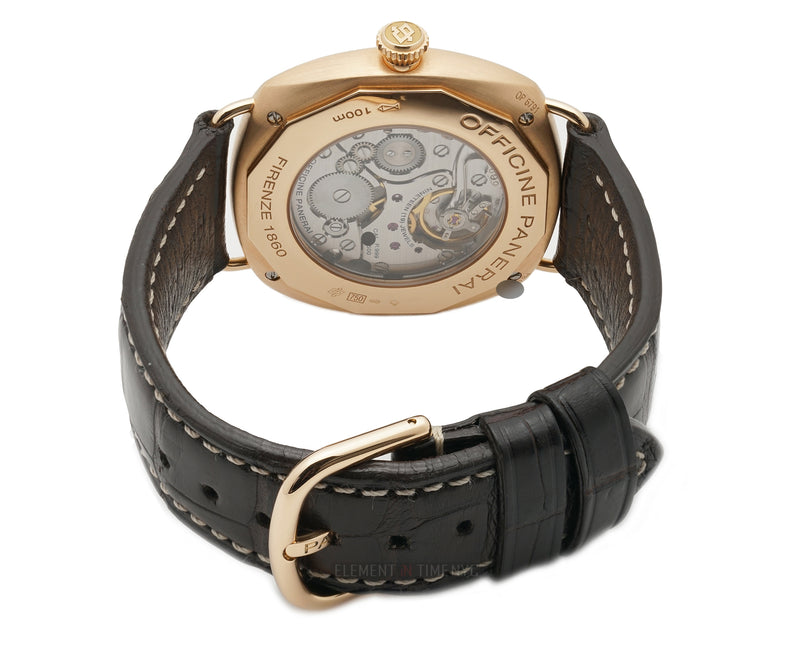 18k Rose Gold 42mm Brown Dial M Series Box & Papers 08/2011