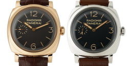 1940 Minerva-Based Movement Pam 398 & Pam 399 Set iN Rose Gold And Steel LTD 100 Units