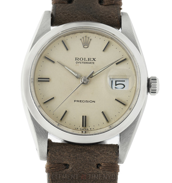 Vintage OysterDate Precision 34mm Steel Ivory White Dial Circa 1960