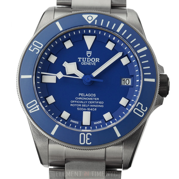 Titanium & Steel Blue Dial Ceramic Bezel 42mm In-House Movement And Unpolished