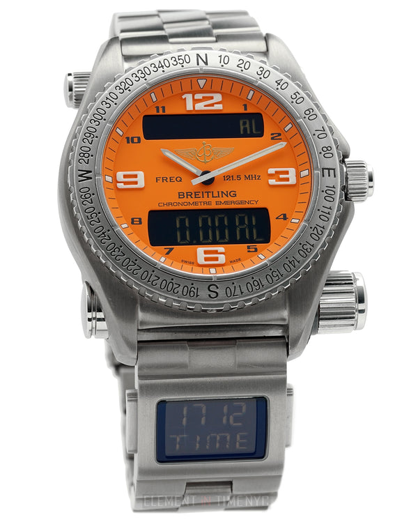 With Digital Co-Pilot Titanium 43mm Orange Dial Full Set & Serviced 06/2018